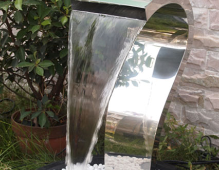 Steel water features